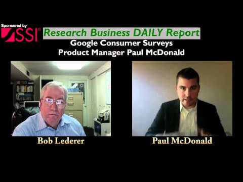 """""""Special"""" Research Business DAILY Report Interview: Google Consumer Survey's Paul McDonald"""