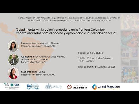 Webinar | Salud mental y migración venezolana en la frontera colombovenezolana: retos para el acceso y apropiación a los servicios de salud