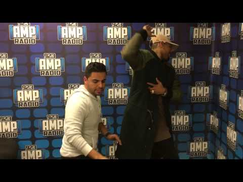 Chris Brown Dancing Merengue with the Shoboy Dance Challenge 92.3 Amp Radio NYC
