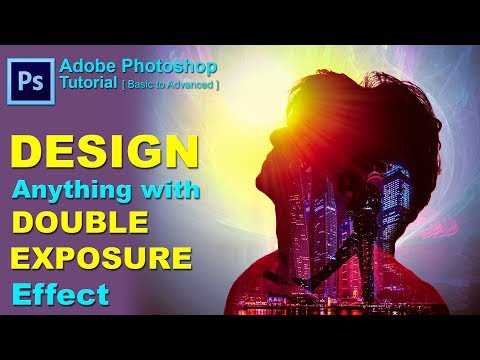 Double Exposure Effect | Photoshop Tutorial | Concept Design | Movie poster designing thumbnail