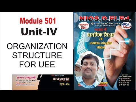 501 UNIT 4 ORGANIZATION STRUCTURE FOR UEE