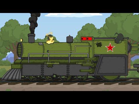 Бронепоезд-опасный-груз--Мультики-про-танки