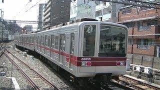 東武20050系21855F 東京メトロ日比谷線中目黒駅引き上げ線入線