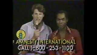 CHRISTOPHER REEVE & FELA KUTI @ 1986 Amnesty International Concert