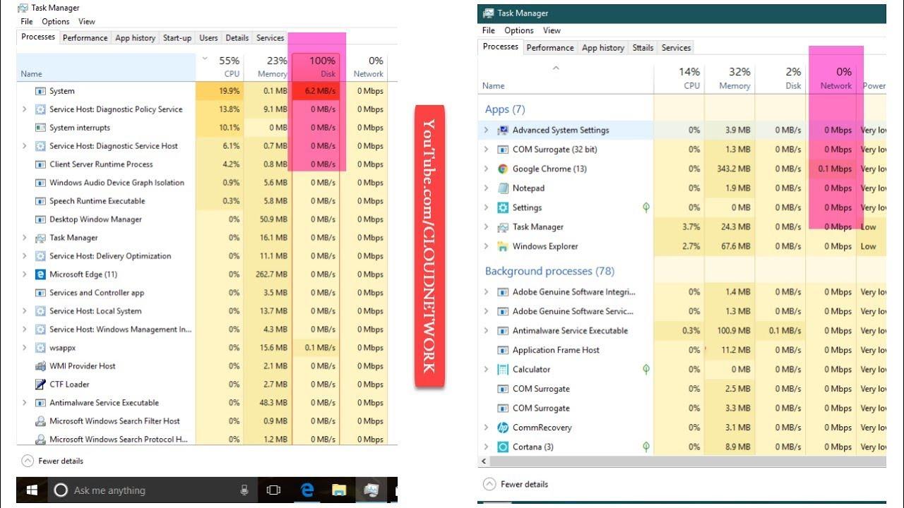 cpu 100 usage windows 10