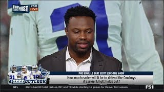 FIRST THINGS FIRST | SHOCKED How much easier will it be to defend Cowboys if Zeke holds out?