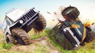 Гусеницы или колеса? Вездеходы Кайман Уронили с обрыва!
