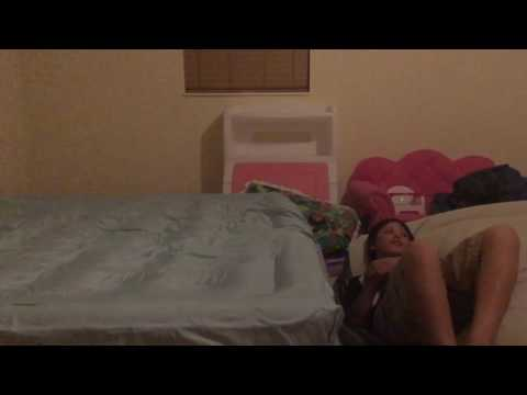 Kid goes high on mattress