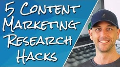 5 Research Hacks To Find Unlimited Ideas For Content Marketing. Find What Your Audience Wants Fast!