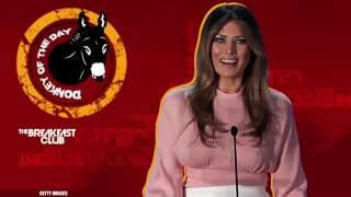 Melania Trump Wants To Stop Online Bullying - Donkey of the Day (11-4-16)