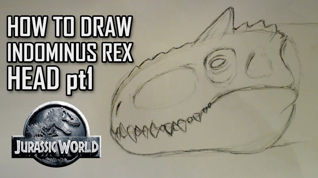 How to draw indominus rex scales jurassic world youtube - How To Draw Indominus Rex Scales Jurassic World Youtube 5