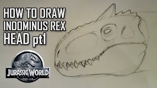 How To Draw Indominus Rex Head - Part 1 - Base Head Shape