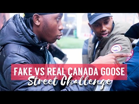 FAKE VS REAL CANADA GOOSE JACKET STREET CHALLENGE EP.04