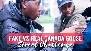 FAKE VS REAL CANADA GOOSE JACKET STREET CHALLENGE EP.04