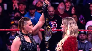 NXT Champion Rhea Ripley engages Charlotte Flair at WrestleMania