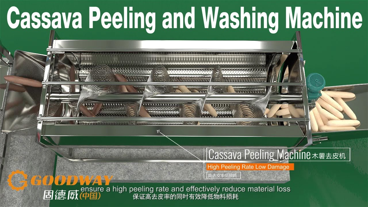 Popular Cassava Peeling and Cleaning Machine in Western Africa