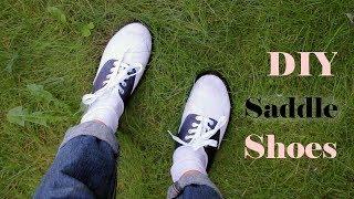 DIY Cheap Saddle Shoes Tutorial