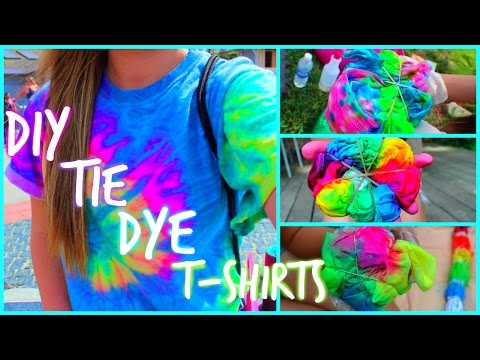 Diy Tie Dye T Shirts Youtube
