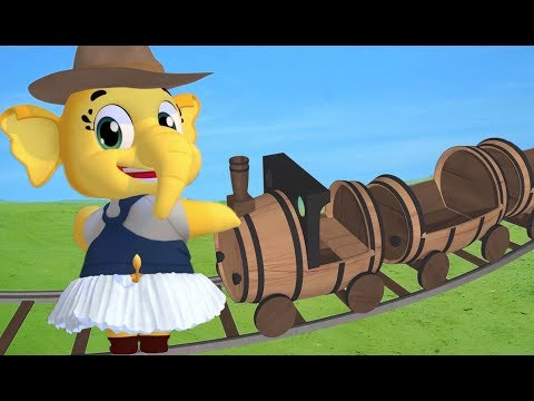 Emmie - Riding In The Train Song | Nursery Rhymes Collection & Kids Songs | Animal Song | Babytoonz
