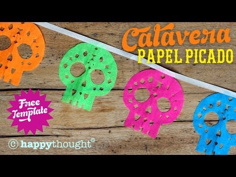 How To Make Papel Picado Calaveras: Sugar Skull Decoration