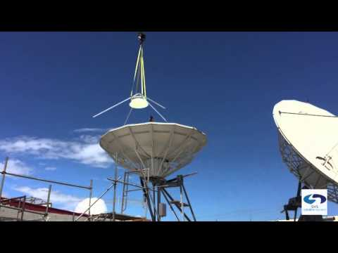 papua new guinea DTH Earth Station Isntallation.