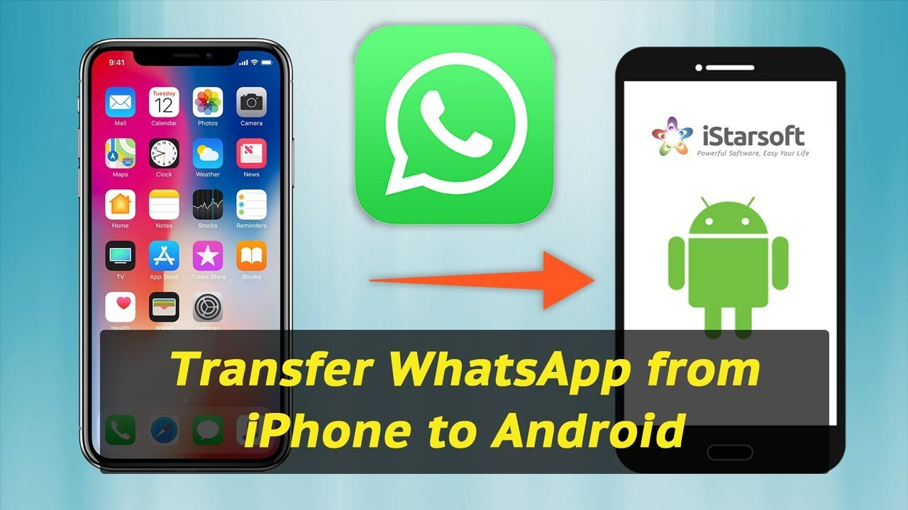 How to Transfer Whatsapp from iPhone to Android With dr.fone - YouTube