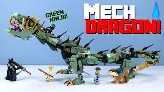 LEGO The Ninjago Movie Green Ninja Mech Dragon Speed Build Review 70612