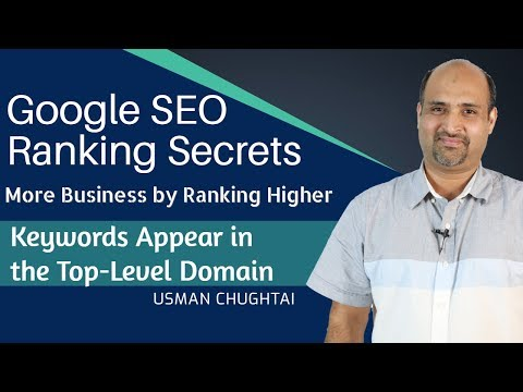 Tutorial - Google SEO Ranking Secrets || Keywords Appear in top level domain