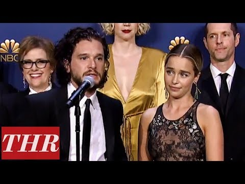 Cast & Crew of 'Game of Thrones': 2018 Emmy Awards Winners Backstage   THR