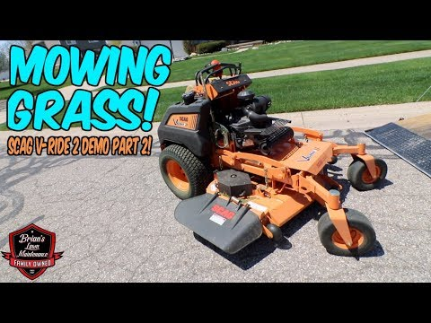 Mowing Grass and Laying Stripes With The New Scag V Ride 2! | Scag V-Ride 2 Demo And Mowing Grass
