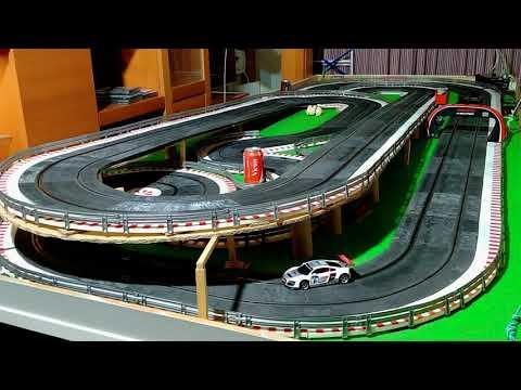 136-Audi R8 Ninco chasis 3D, parte 2, prueba en pista