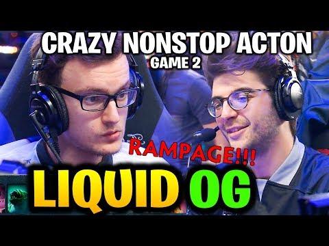 LIQUID vs OG (Game 2) RAMPAGE! Crazy Action Grand Final TI9 Dota 2