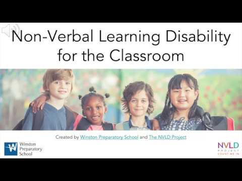School Success for Non-Verbal Learning Disability
