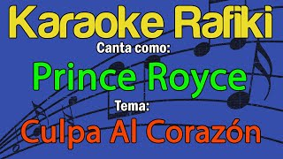 Prince Royce - Culpa Al Corazón Karaoke Demo
