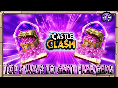 TOP 5 WAYS To Get Free Gems In CASTLE CLASH