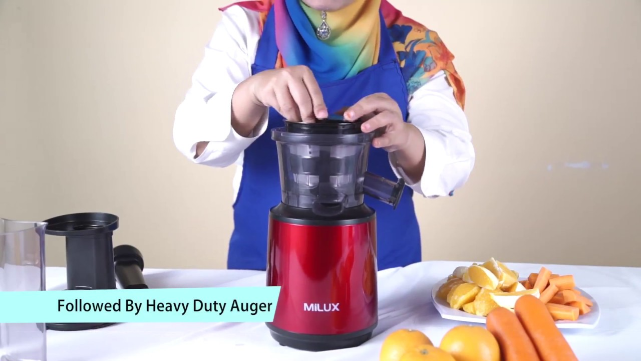 Milux MSJ-150 Nutrilicious Slow Juicer - YouTube
