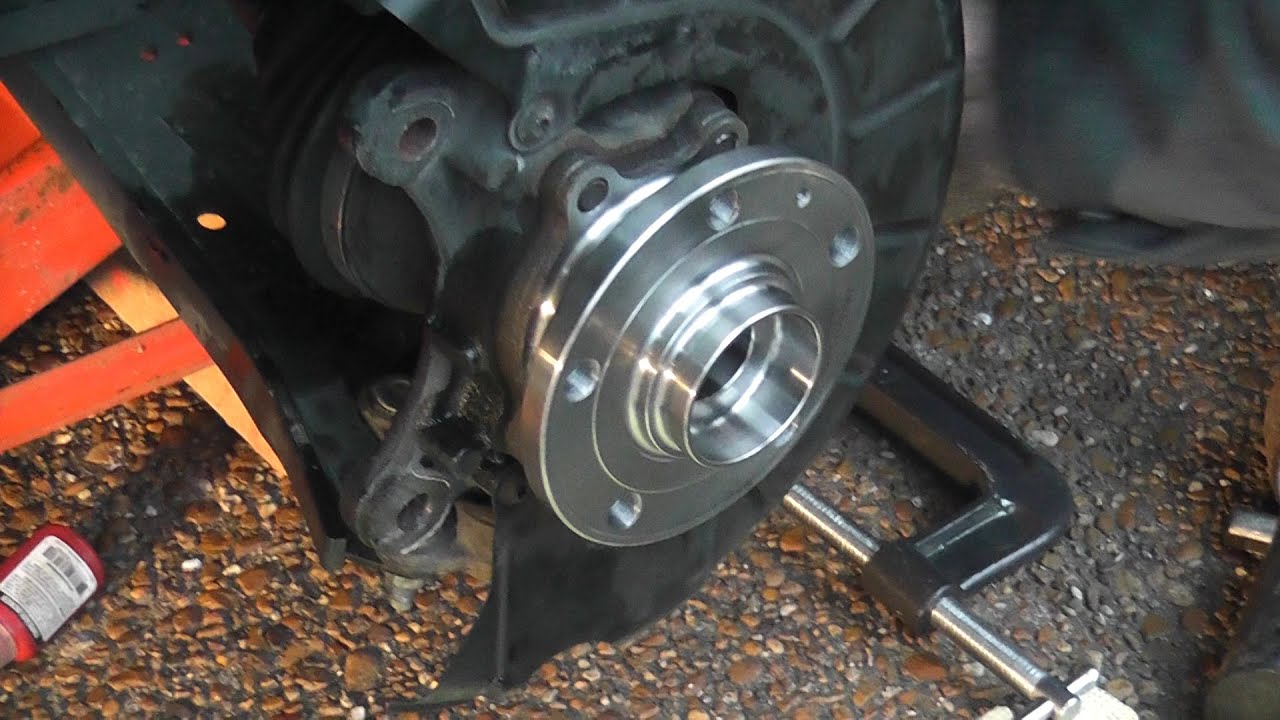 Replacing 2006 Vw Jetta Mk5 Front Wheel Hub Bearing Youtube