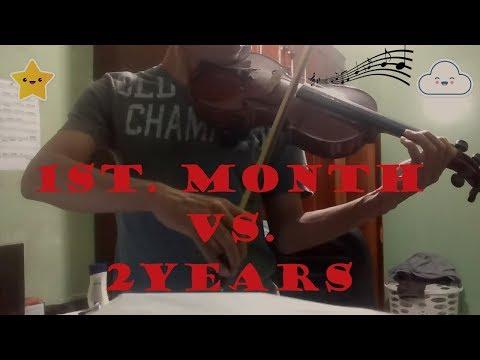 Self-Taught Violin Progress ( 1st. month vs 2 Years )