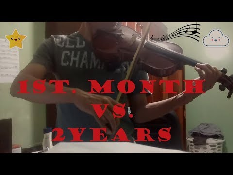 Self-Taught Violin Progress ( 1st. month vs 2 Years )