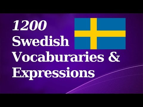 1200 Basic Swedish Vocab & Expressions