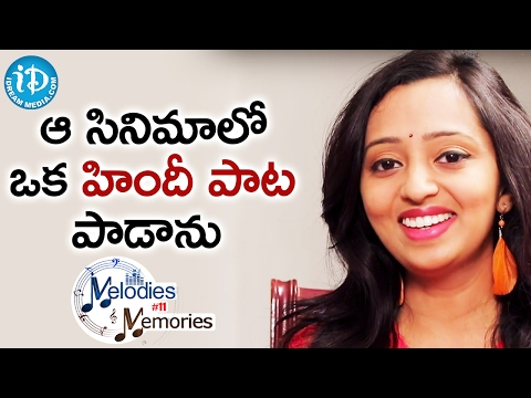 I Sang A Hindi Song In That Film - Singer Malavika || Melodies And Memories