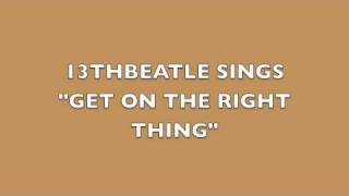GET ON THE RIGHT THING-PAUL MCCARTNEY/WINGS COVER