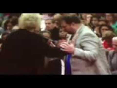 Prophet Glenda Jackson releasing a powerful word to Pastor Adam Tice