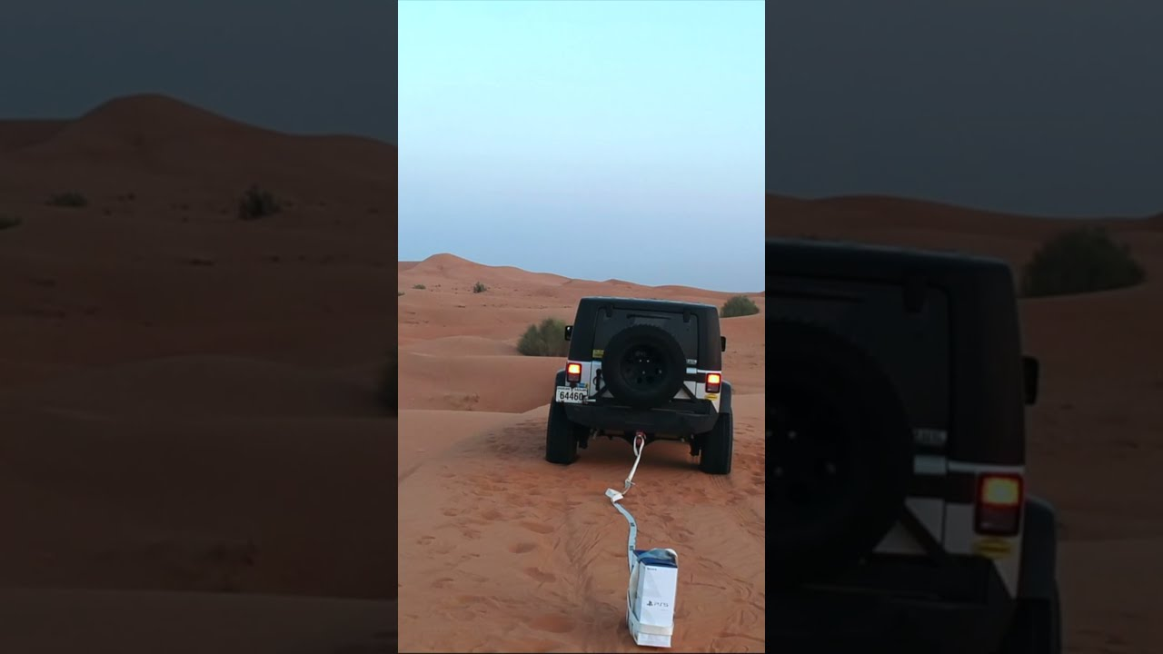 Unboxing PS5 With My Jeep In Desert #Shorts