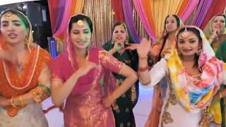 King and Poonam Randhawa Jaggo II Punjabi Wedding Seattle II  Jago Sangeet Gidha Dance