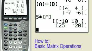 Matrix Operations on the TI-83+ TI-84+
