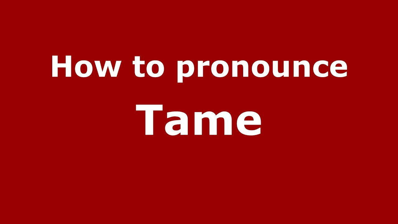 How to pronounce Tame (Colombian Spanish/Colombia) - PronounceNames.com