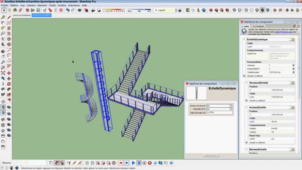 Part 1/3 : SketchUp Dynamic component and animation (Fr sub EN)