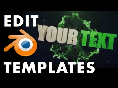 How To Edit Blender Intro Templates - The Ultimate Video Guide