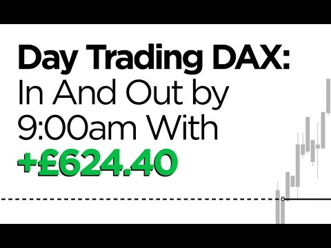 Day Trading DAX: In & Out By 9:00am With £624.40